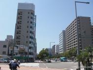 Hlavní ulice v Mijazaki