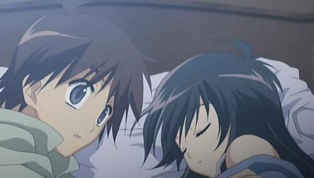 Yuuji a Shana v posteli