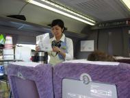 Obsluha v Shinkansenu